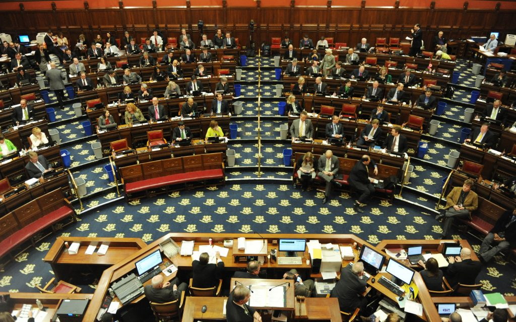 The Connecticut House of Representatives in action.